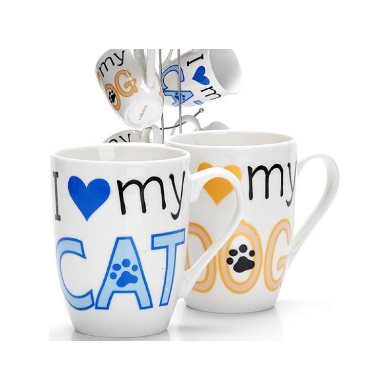 Set mugs LORAINE, 7 items, with logo keith ti3301 220ml titanium double wall cups mugs with cover