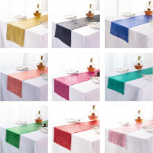 Colored table flags Rose Gold Sequin Table Runners Glitter Event Party Supplies Decorations For Wedding Birthday Baby Shower