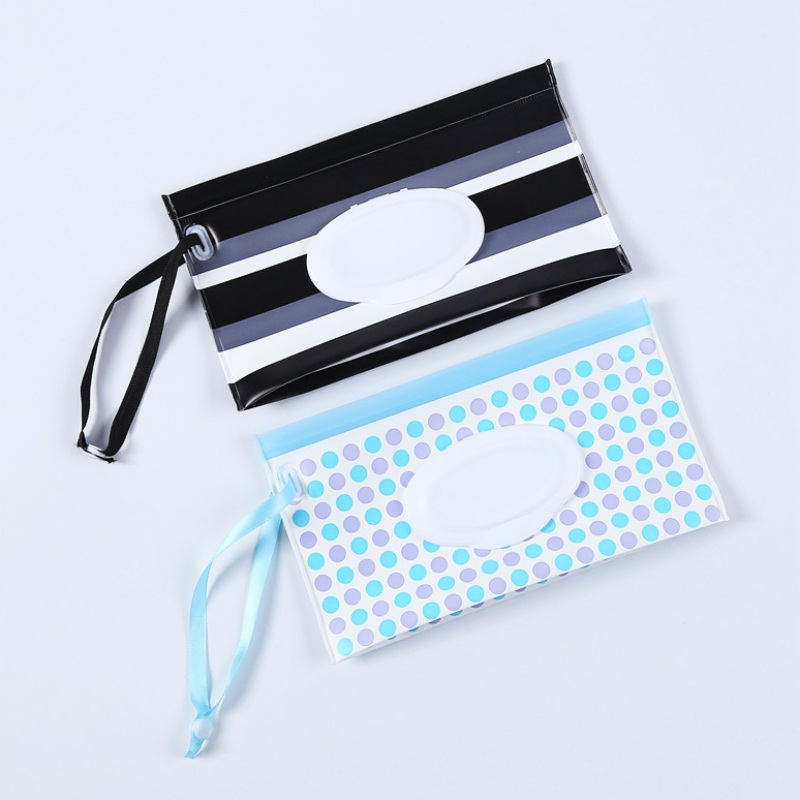 Refillable Bag Dispenser Wet Wipe Wipes Pouch PVC Self-supporting Reusable