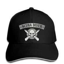 Baseball cap For MenScuba Diver Baseball cap Scuba Dive Scuba Dive Team Skull snapback hat Peaked(China)