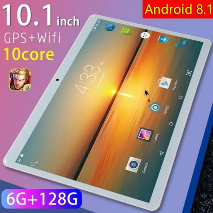 2020 10.1 Inch Android 8.1 1280*800 HD Screen Tablet Ten Core 6G RAM+128G ROM 4G Dual SIM Card Phone Wifi Tablets PC Dual Camera