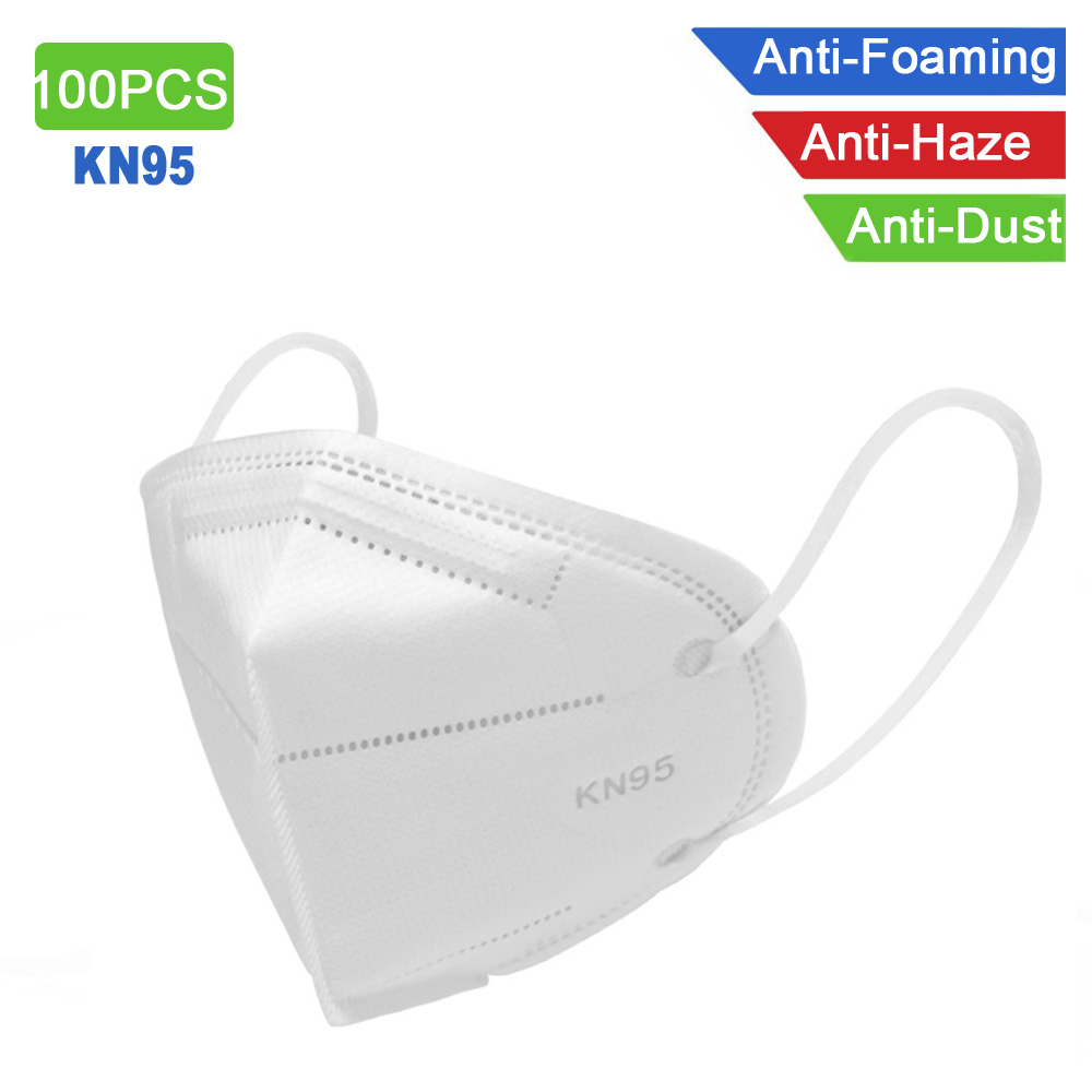 100PCS KN95 Masks Non-woven Anti Dust Mouth Face Cover Safety Protective Earloops Face Mouth Mask N95 Mask Dustproof