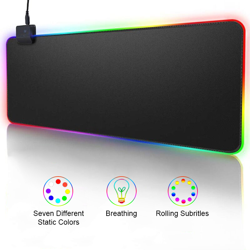 RGB Gaming Mouse Pad Computer Mousepad Large Mouse Pad Xxl Big Gamer Desk  Mouse Mat Led Mause Pad Backlit Keyboard Mice Mat