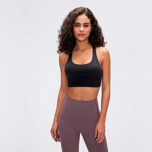 Image 5 - Raibaallu bahar/summershock geçirmez spor iç çamaşırı kadın crossover geri toplamak koşu yoga sutyen