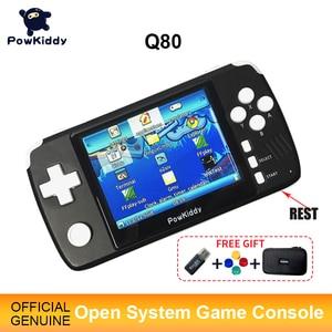 "Image 1 - Powkiddy Q80เกมคอนโซลวิดีโอย้อนยุคโทรศัพท์มือถือ3.5 ""IPSหน้าจอBuilt In 4000เกมเปิดระบบPS1จำลอง48Gเกมใหม่"