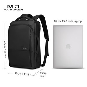 Image 5 - Mark Ryden Travel Backpack Large Capacity Teenager Male Mochila Anti thief Bag USB Charging 15.6 inch Laptop Backpack Waterproof