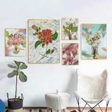 Golden Lotus Flowers Poster Abstract Canvas Painting Golden Floral Posters And Prints Wall Art Pictures For Living Room Decor wall art canvas painting 3d flower picture posters and prints golden flowers poster wall pictures for living room home decor
