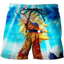 3D Anime Design Beach Shorts Men Funny Dragon Ball Printed Swiming Short Men Summer Shorts Homme Male Shorts(China)