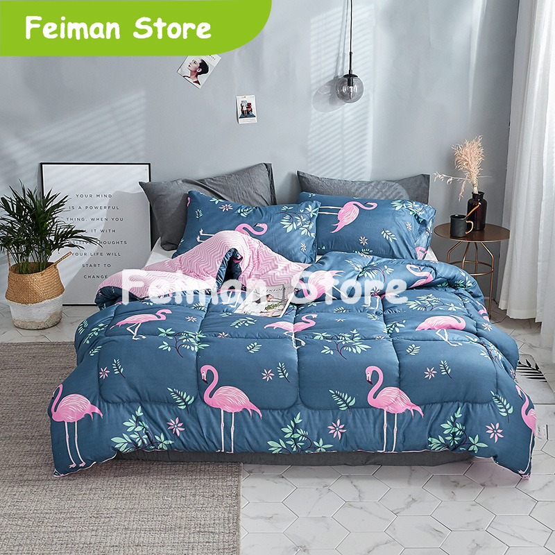 2019 New Winter Comforter Bird Thicken Quilted Quilts Home Bedding Comforter Printed Keep Warm Winter Duvet With Filling