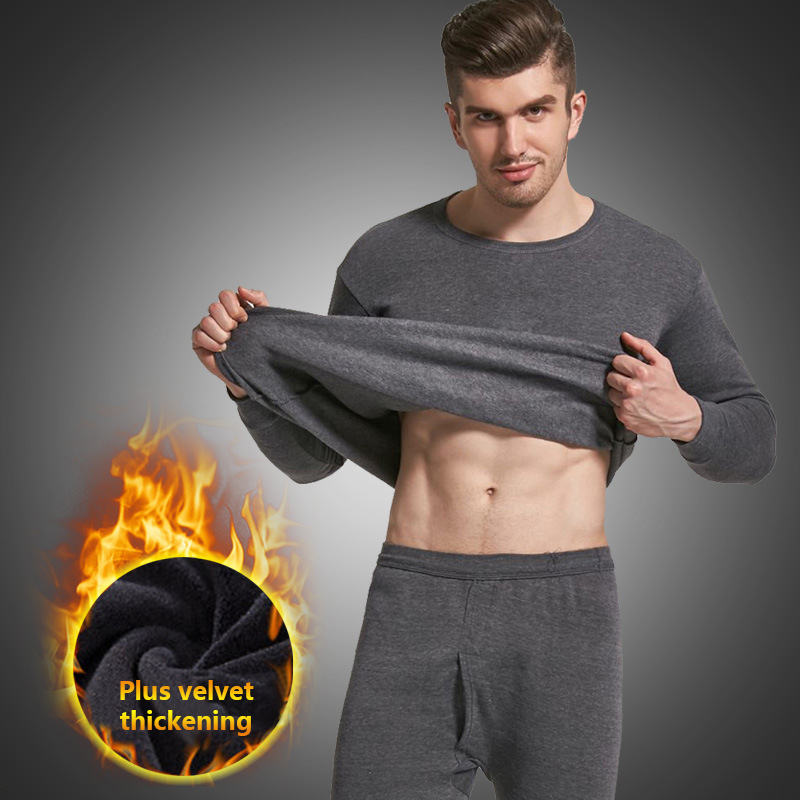 Thermal Underwear Sets For Men Winter Thermo Underwear Long  Winter Clothes Men Thick Thermal Clothing Solid Drop Shipping