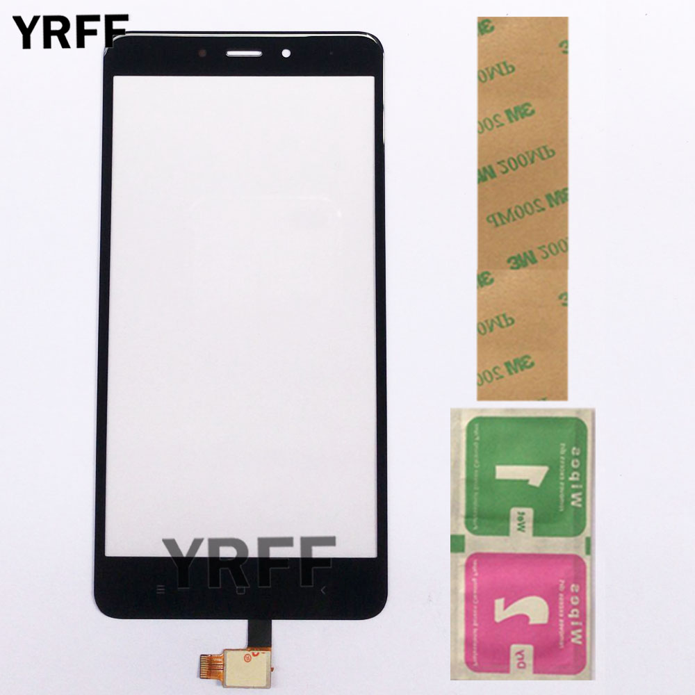 Touch Screen Sensor For Xiaomi Redmi Note 4 Touch Screen Digitizer Panel Front Glass Lens Mobile Phone 3M Glue Wipes