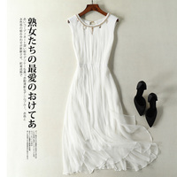 Summer Dress 100% Real Silk Dress Women Clothes 2019 Boho Ruffles White Dresses Vintage Elegant Ladies Beach Vestido 8031