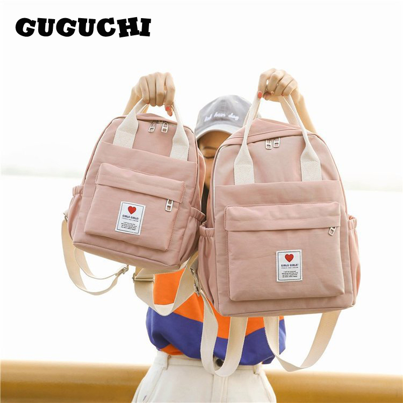 School Backpack Women Fashion 2020 New Candy Color Cute Girls Female School Students Schoolbag Shoulder Bags Canvas Backpacks