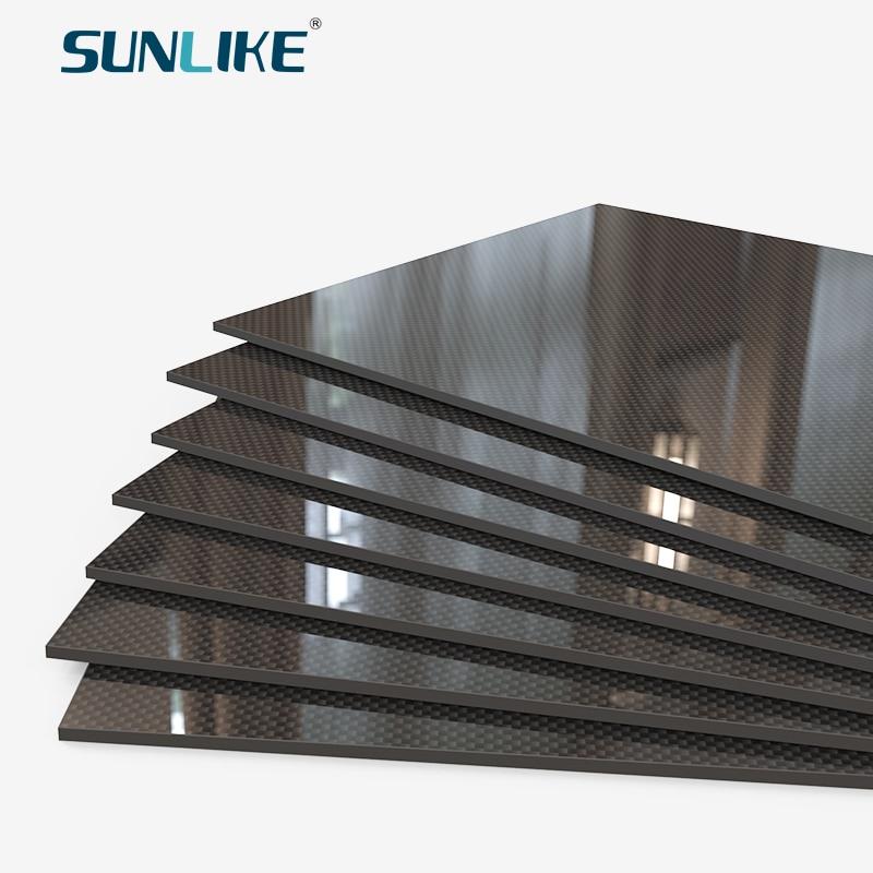 400mm X 200MM Glossy Surface 3K Carbon Fiber Sheet Plate Panel 0.25mm 0.5mm 1mm 1.5mm 2mm 3mm 4mm 5mm 6mm High Composite Hardne