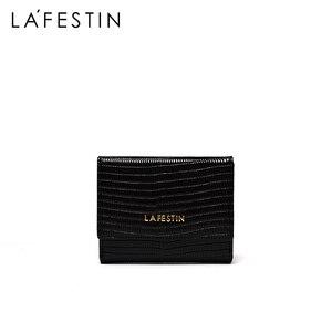 Image 2 - LA FESTIN Eidechse muster leder tri falten brieftasche kurze brieftasche weibliche compact ultra dünne, weiche leder klapp münze geldbörse