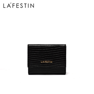 Image 2 - LA FESTIN  Lizard pattern leather tri fold wallet short wallet female compact ultra thin soft leather folding coin purse
