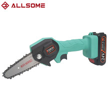 24V Portable Electric Pruning Saw Electric Saws Woodworking Electric Saw Garden Logging Mini Electric Chain Saw Lithium Battery