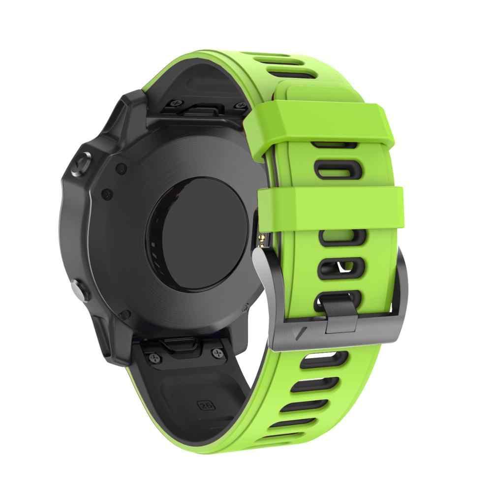 Easyfit سيليكون شريط للرسغ للغارمين فينيكس 6X 6 برو 5 5X زائد 3HR 26 مللي متر 22 مللي متر سرعة الافراج مربط الساعة Fenix5 Fenix6 حزام (استيك) ساعة