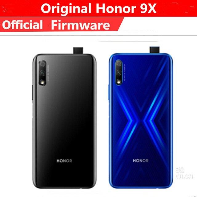 "Original Honor 9X Handy Kirin 810 Android 9,0 6.59 ""IPS 2340X1080 8GB RAM 128GB ROM Erhöhung kamera 48,0 MP"