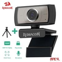 REDRAGON GW900 APEX USB HD Webcam-Autofokus Eingebautes Mikrofon 1920 X 1080P 30fps Web-Cam-Kamera für Desktop-Laptops Spiel-PC