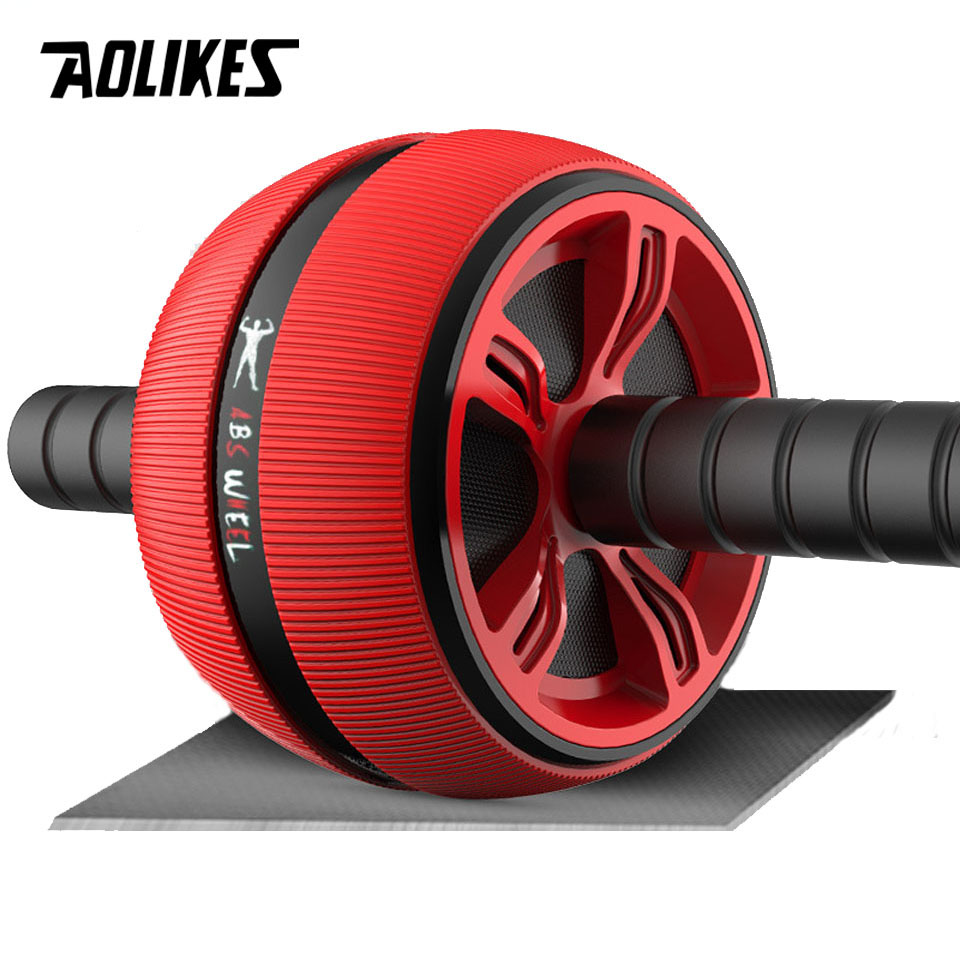 AOLIKES Ab Roller Wheel Abdominal Muscle Trainer For Fitness Abs Core Workout Abdominal Muscles Training Home Gym Fitness