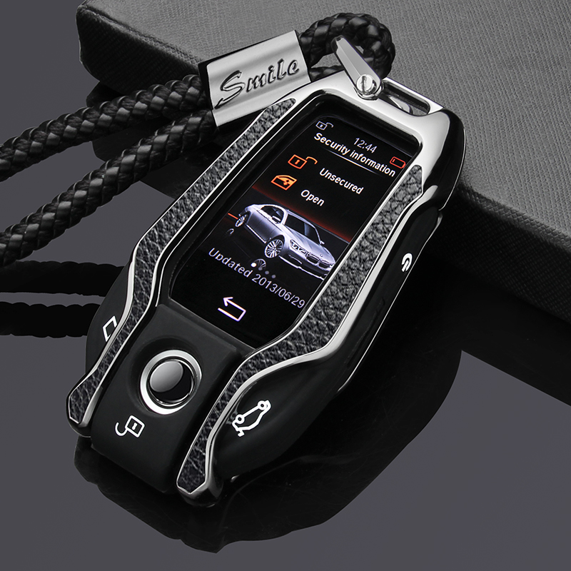 Genuine leather paste zinc alloy car key case cover for BMW 5 7 series G11 G12 G30 G32 i8 I12 I15 G01 X3 G02 X4 G05 X5 G07 X7