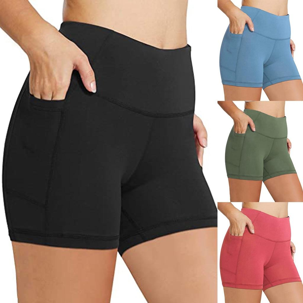 Шорты для йоги с завышенной талией, Бесшовные штаны с рюшами для спортивного зала, лифтинга, бега, фитнеса, йоги, 25 #