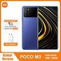 Глобальная версия POCO M3 4GB 128GB Смартфон Snapdragon 662 Octa Core 6000 мАч 48MP тройной Камера 6,53