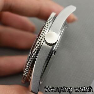 Image 4 - 41 ミリメートル Corgeut サファイアガラスセラミックベゼルステンレス鋼腕時計ケースフィット御代田 8205/8215/82 シリーズ、 eta 2836 、 Mingzhu DG2813