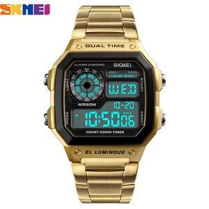 Image 2 - SKMEI Top Luxury Fashion Sport Watch Men 5Bar Waterproof Clock Casual Brand Electronic Mens Watches Digital Wristwatch Male
