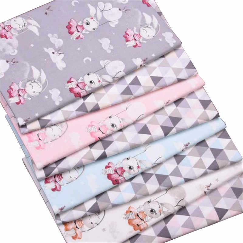 Syunss nowy królik Swinging drukowane tkaniny bawełniane dla majsterkowiczów Patchwork pikowania kołyski dla dzieci tkaniny poduszki koc szycia Tissus