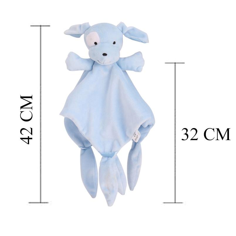 Baby Towel Toys pink Baby Comfort Cartoon Cute Soothing Coral Velvet Toy Sleep Appease Towel with Cute Animal Shape
