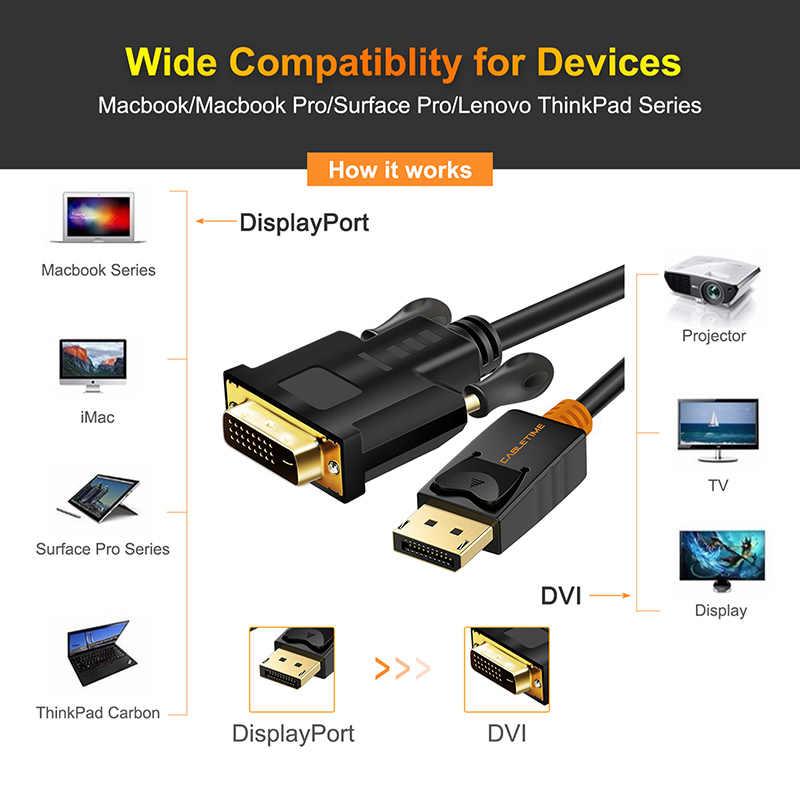 CABLETIME 2019 جديد عرض ميناء إلى DVI كابل متر/متر ديسبلايبورت DP إلى DVI اتصال محول 1080P ثلاثية الأبعاد لأجهزة الكمبيوتر العارض HDTV C074