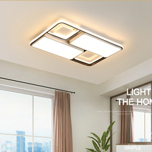 New Modern  Led Ceiling Light for foyer Living room Bedroom Kitchen Black and White Creative Fashion remote control Lamp