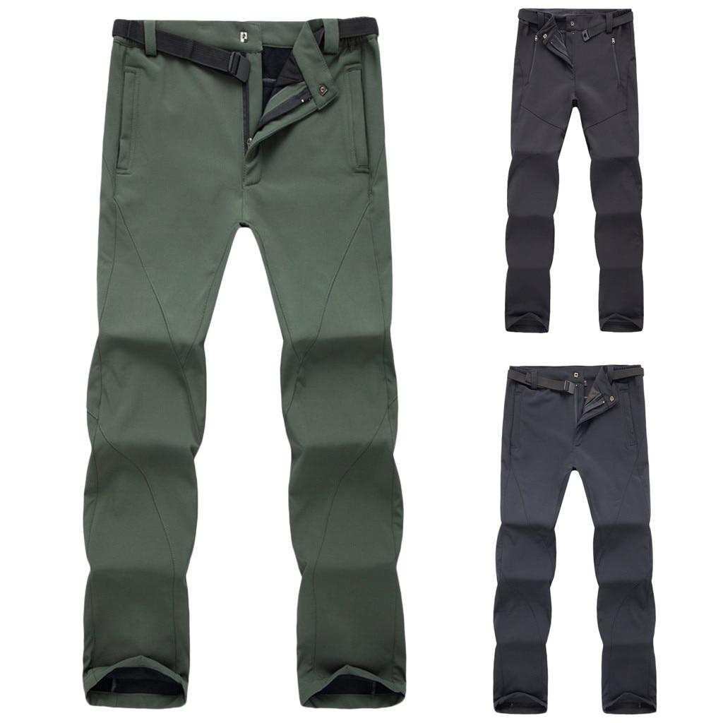 Pantalones Para Hombre Hombres Impermeables A Prueba De Viento Al Aire Libre Senderismo Caliente Invierno Pantalones Gruesos Pantalon De Trabajo Hombre Acampada Y Senderismo