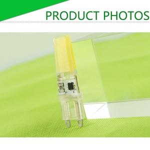 Image 5 - 10Pcs LED G4หลอดไฟAC DC 12V 220V Dimmable Cob Led G9 3W 6W 10W COB LEDโคมไฟเปลี่ยนหลอดฮาโลเจนSpotlightโคมไฟระย้า