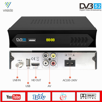 Vmade DVB S2 MiNi Satellite Receiver HD Digital TV Tuner Support WiFi 3G IPTV CS Cccam Youtube DVB-S2 TV Set-Top Box [genuine]dmyco v9s pro usb wifi dvb s2 satellite tv receiver support powervu bisskey necamd youtube youporn pk v8 super