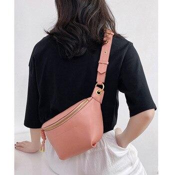 Fanny pack for women Real Leather shoulder bag Waist Pack female Belt Bag 2020 Fashion purse Waist bags Designer women chest bag