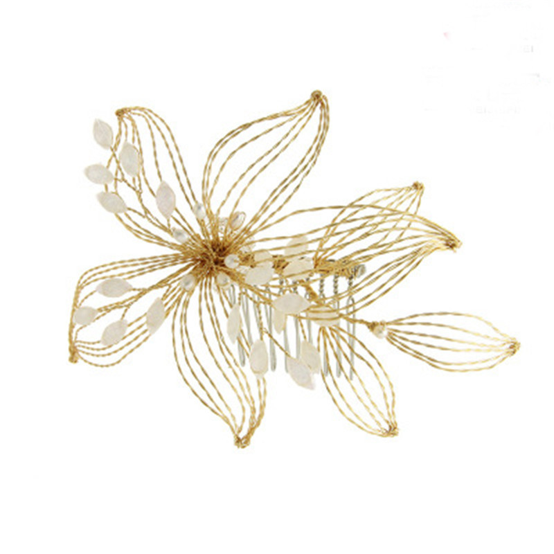 Bridal Hair Accessories Wedding Clips For Bride Handmade Flower Wedding Bridal Jewelry Accessories Party Headwear for Bride Girl