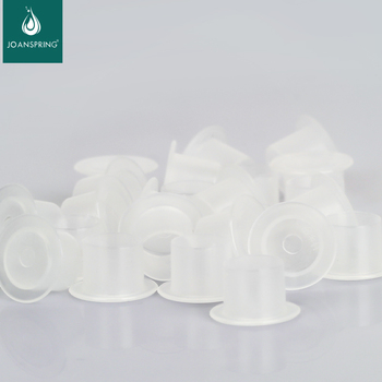 500/1000PCS S/M/L/XL Tattoo Plastic Tattoo Ink Cup Cap Pigment Clear Holder Container Cap With Bottom For Needle Tip Grip Supply 1