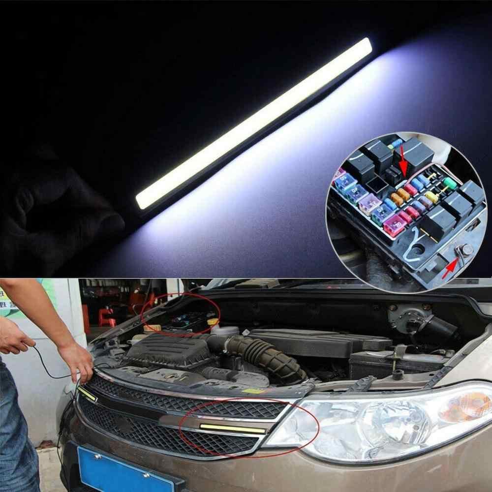 10 adet 17cm DC 10 V-12 V araba DRL LED COB sürüş sis lambası çift gündüz farı ışıkları otomatik su geçirmez güncelleme parlak ampul