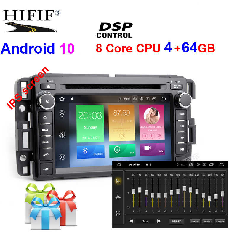 DSP Android 10 Auto DVD Player Für GMC Sierra Savana Sonoma Acadia Yukon Envoy Canyon Stereo Radio Tablet PC unterstützung DTV DAB +