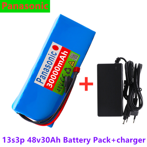 Panasonic lithium battery 48v 20Ah 1000w 13S3P Lithium ion Battery Pack 54.6v E-bike Electric bicycle Scooter with BMS+ charger(China)