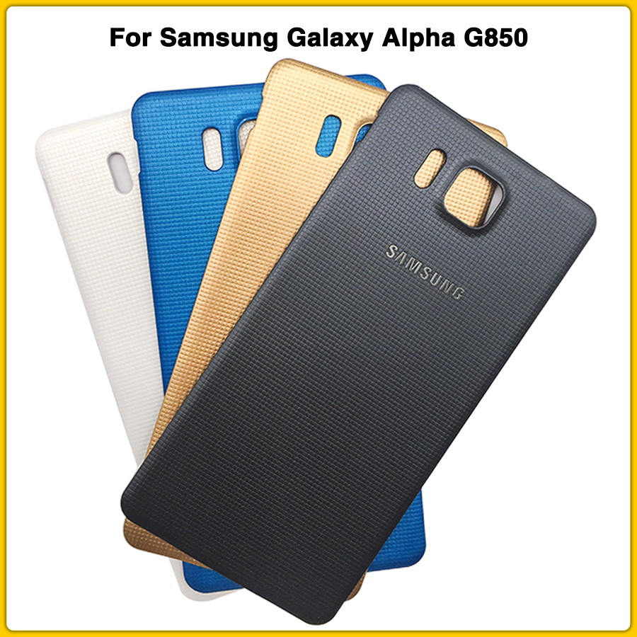 New G850 Rear Housing Case For Samsung Galaxy Alpha G850 SM-G850F G850A Battery Back Cover Door Raer Cover Case