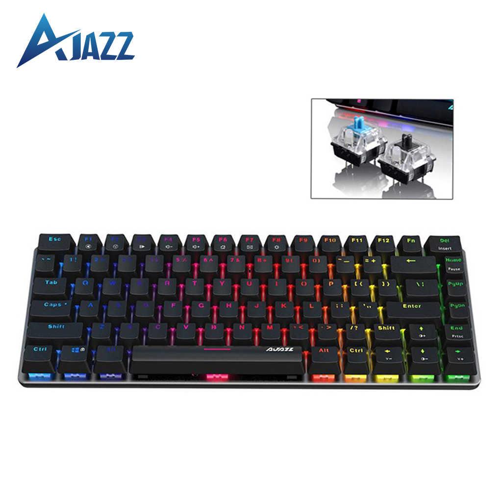 Color : Blue Ajazz AK33 12 Keys Laptop Computer Mechanical Keyboard Translucent Keycap