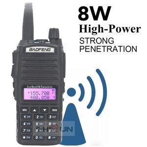 Image 5 - Agrandir 3800mAh UV 82 8W Baofeng UV 82 Talkie walkie 10 KM Baofeng 8W Radio Double PTT UV XR UV 9R GT 3TP Jambon Radio 10 KM UV 5R 8W