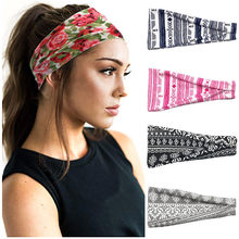 3-4 colors headband fashion sweat absorption 1 piece hair band cotton Man Fitness elastic sports hair accessories woman Yoga(China)