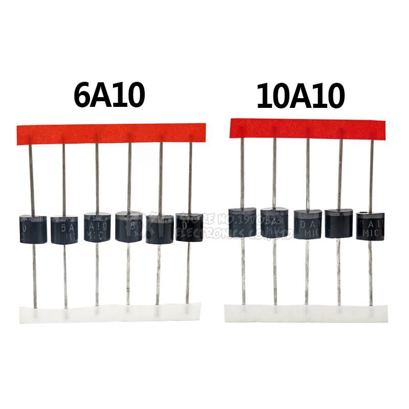 20 шт 10A10 6A10 6A 10,0 AMP кремния полупроводниковый диод 10A 1000V R 6 Интегральные схемы      АлиЭкспресс