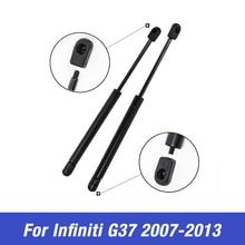 цена на For Infiniti G37 2007 2008 2009 2010 2011 2012 2013 Front Hood Cover Lift Support Shock Strut Arm Rod Damper Gas Struts