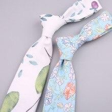 Модные Разноцветные галстуки в повседневном стиле для мужчин и женщин 7 см из хлопка с принтом